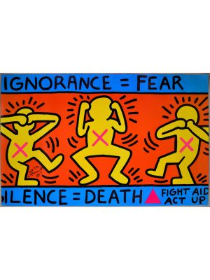 IGNORANCE=FEAR/ SILENCE=DEATH by Keith Haring - Contemporary artwork