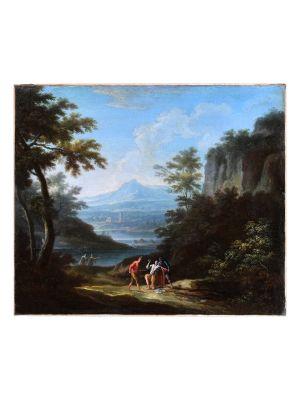 Two Arcadic Landscapes by Jan Frans van Bloemen - old Master's Artwork