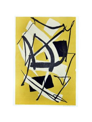 Ochre Composition by Luigi Montanarini - Contemporary Artwork