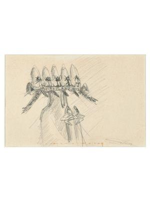 Surrealist Drawing by Sebastián Matta - Contemporary Artwork