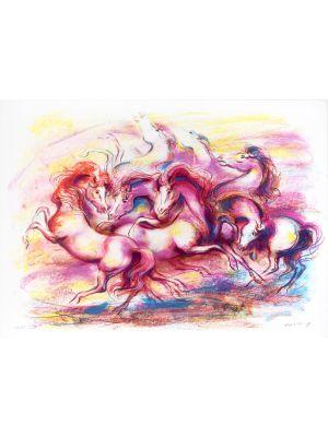 Horses by Jovan Vulic - Contemporary artwork