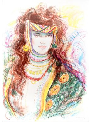Berber Woman by Jovan Vulic - Contemporary artwork
