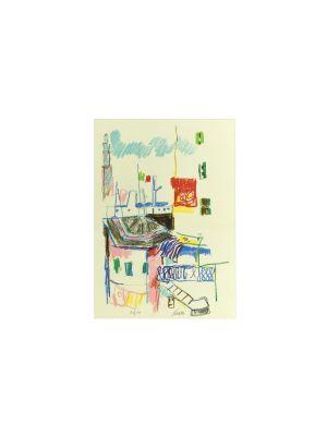 Casetta con Tricolore by Enrico Paulucci - Contemporary artwork