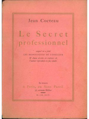 Le Secret professionnel by Jean Cocteau - Contemporary Rare Book