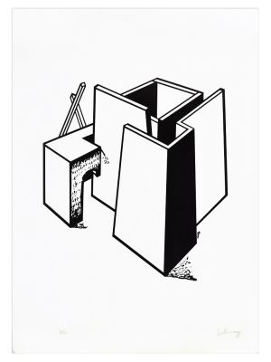 Architectural Construction by Ivo Pannaggi - Contemporary Artwork