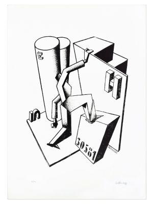 The Climber by Ivo Pannaggi - Contemporary Artwork