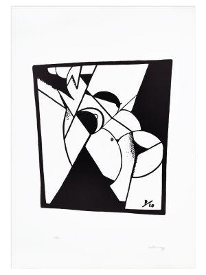 Female Nude by Ivo Pannaggi - Contemporary Artwork