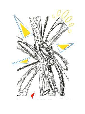 Don Quixote's Mill by Plinio Mesciulam - Contemporary Artwork