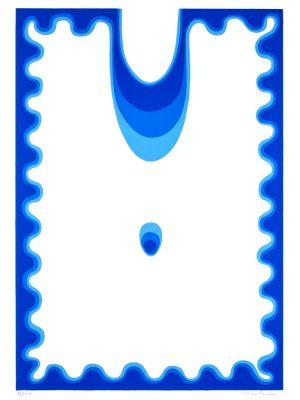 The Blue Drop by Plinio Mesciulam - Contemporary Artwork