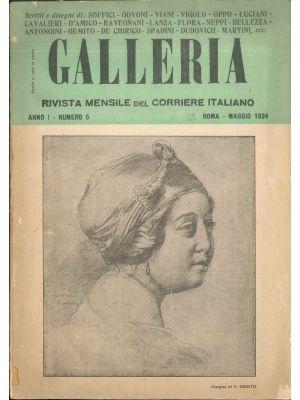 Galleria. Rivista mensile del Corriere Italiano 5/1924 by Ardengo Soffici - Rare Magazine