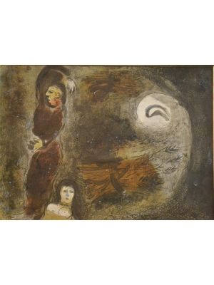 Ruth at the feet of Boaz- from the series