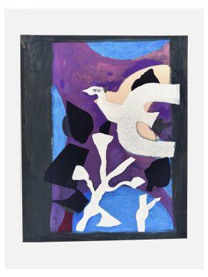 Oiseau et Lotus by Georges Braque - Contemporary artwork