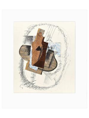 Composition au violon and journal découpé by Georges Braque - Contemporary artwork