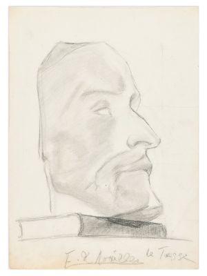 Male Profile by Anna Elisabeth Noailles - Modern Artwork