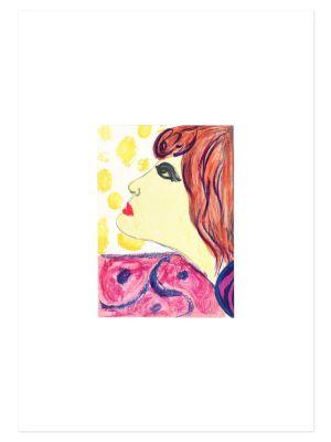 Woman In Brown by Pompeo Borra - Contemporary artwork