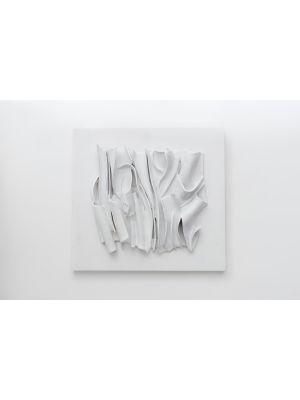 Pieghe Cosmiche Bianche by Michele Cossyro - Contemporary Artwork