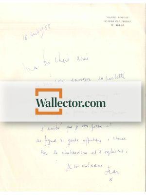 Surrealist Letter by Jean Cocteau - Manuscript