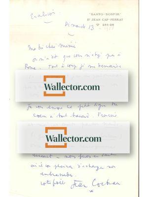 Cocteau's Letter by Jean Cocteau - Manuscript