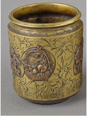 Asian Brass Mug - Decorative Object
