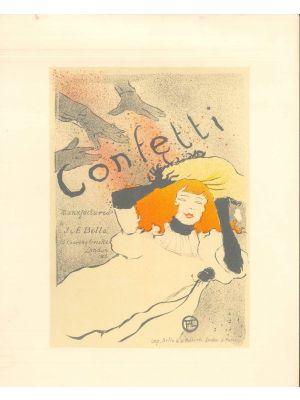 Confetti by  Henri de Toulouse Lautrec - Modern Artwork