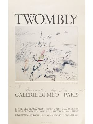 Twombly Exhibition - Galerie Di Meo by Cy Twombly - Contemporary Artwork