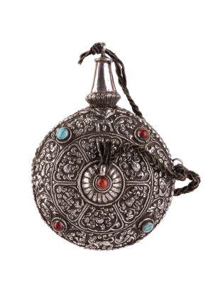 Silver Flask - Tibet - Decorative Object