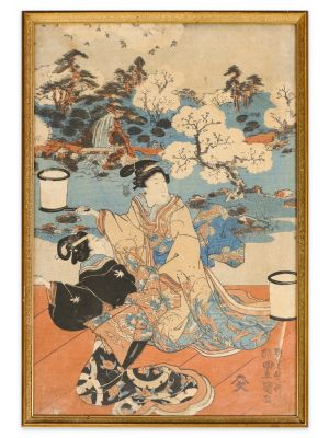 Kabuki Scene by Utagawa Kuniyoshi - Modern Artwork