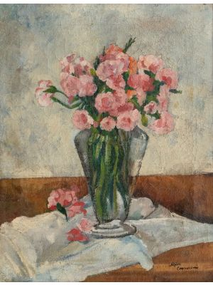 Vase With Flowers by Alfiero Cappellini - Modern Artworks