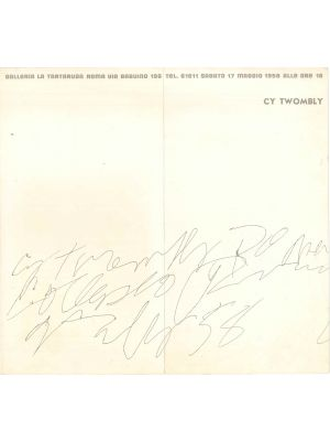 Exhibition leaflet of Cy Twombly - Contemporary Artwork