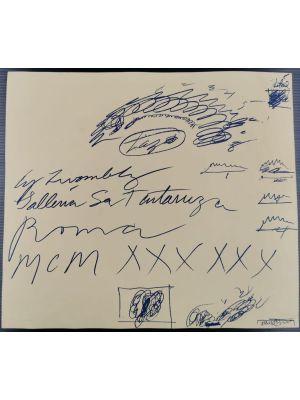 Cy Twombly Exhibition Leaflet - Galleria La Tartaruga 1960 - Prints & Multiples