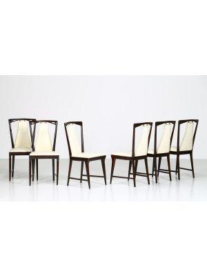 Set of Six Mid Century Chairs attributed to Osvaldo Borsani - Design Furniture