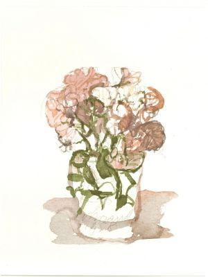 Vase of Flowers by Giorgio Morandi - Contemporary Artwork