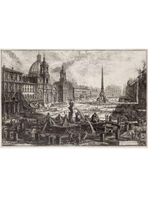 Piazza Navona by Giovanni Battista Piranesi - Old Master Artwork