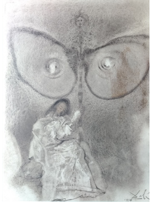 Antequam exires de vulva sanctificavi te - from Biblia Sacra by Salvador Dalì - Surrealist Artwork