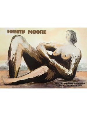 Exhibition Poster from Mestna Gallery by Henry Moore - Contemporary artwork