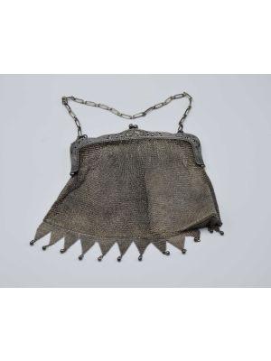Silver Knitted Handbag