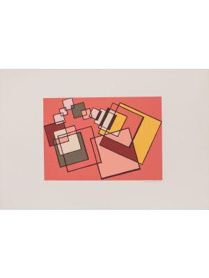 Red Composition by Mario Radice - Contemporay Artwrok