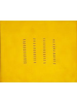 Seams On Yellow by Mario Bigetti - Contemporary Artwork