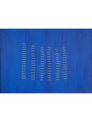 Gold Seams on Blue by Mario Bigetti - Contemporary Artwork