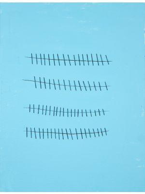 Seams on Sky Blue by Mario Bigetti - Contemporary Artwork