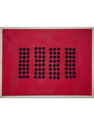 Sequence on Red by Mario Bigetti - Contemporary Artwork
