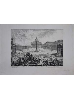 View of Basilica and S. Peter Square by Giovanni Battista Piranesi - Old Master Artwork