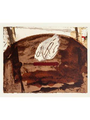 White Flame by Antoni Tàpies - Contemporary Artwork