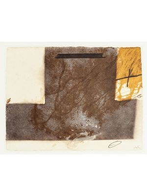 T Grey Up Side Down by Antoni Tàpies - Contemporary Artwork