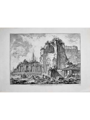 Temples of Iside and Serapi by Giovanni Battista Piranesi - Old Master Artwork