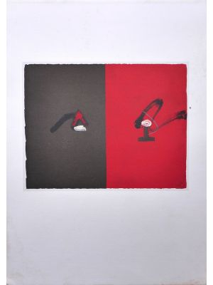 Red and Black by Antoni Tàpies - Contemporary Artwork
