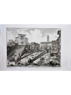 View of the Capitoline Hill   by Giovanni Battista Piranesi - Old Master Artwork