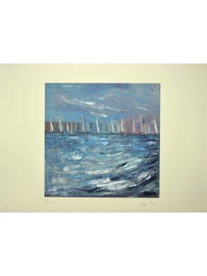 La Regata is an original artwork realized by the Belgian artist Martine Goeyens.