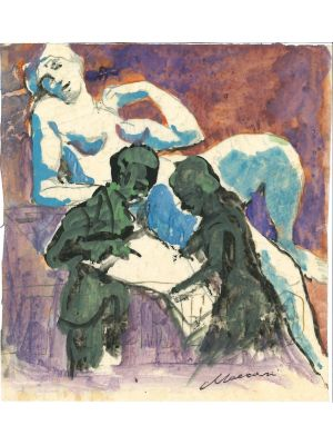 Couple by Mino Maccari - Contemporary Artworks