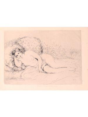 Femme Nue Couchée (Tourné à gauche) by Pierre-Auguste Renoir - Modern Artwork